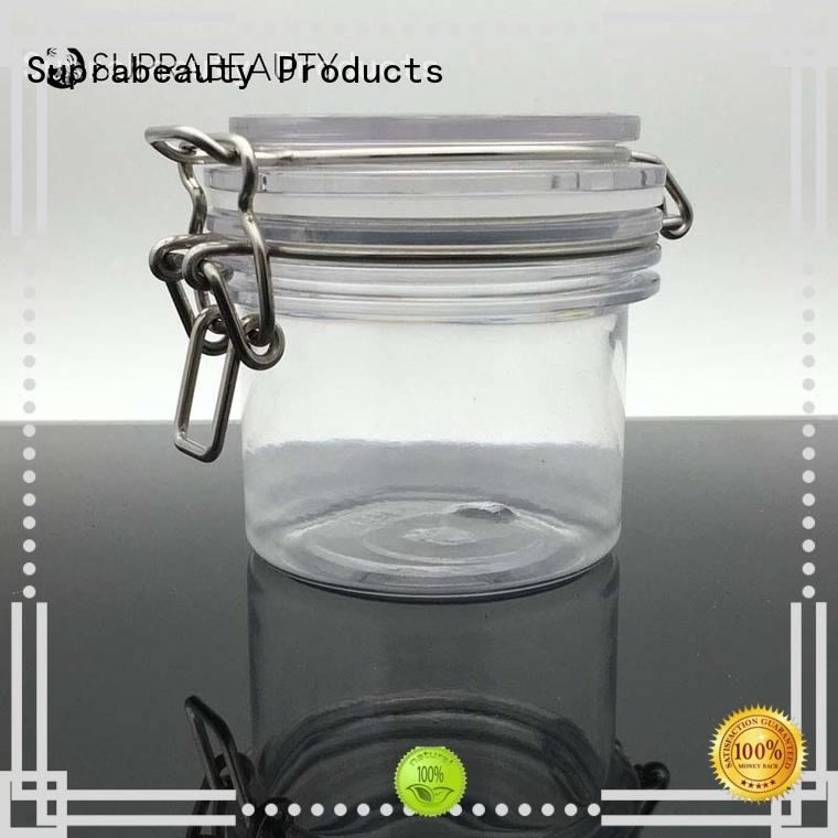 white plastic cosmetic jars with silicone ring for petroleum jelly