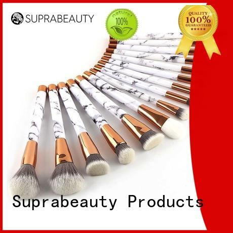 Suprabeauty aluminum brush set with curved synthetic hair for artists