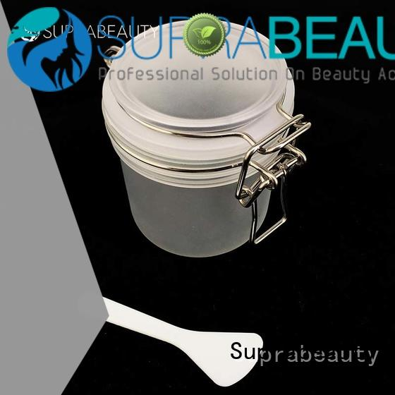 xlj plastic airtight jars with logo printing for cosmetic cream Suprabeauty