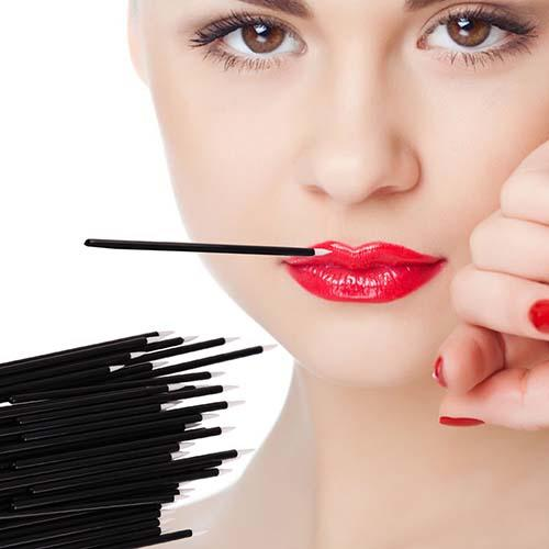 Suprabeauty spd eyeliner brush with bamboo handle for mascara tube