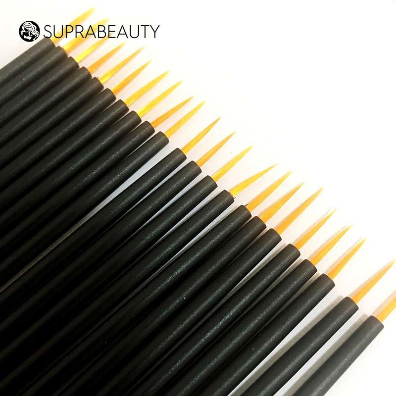 Synthetic hair disposable eyeliner makeup applicator