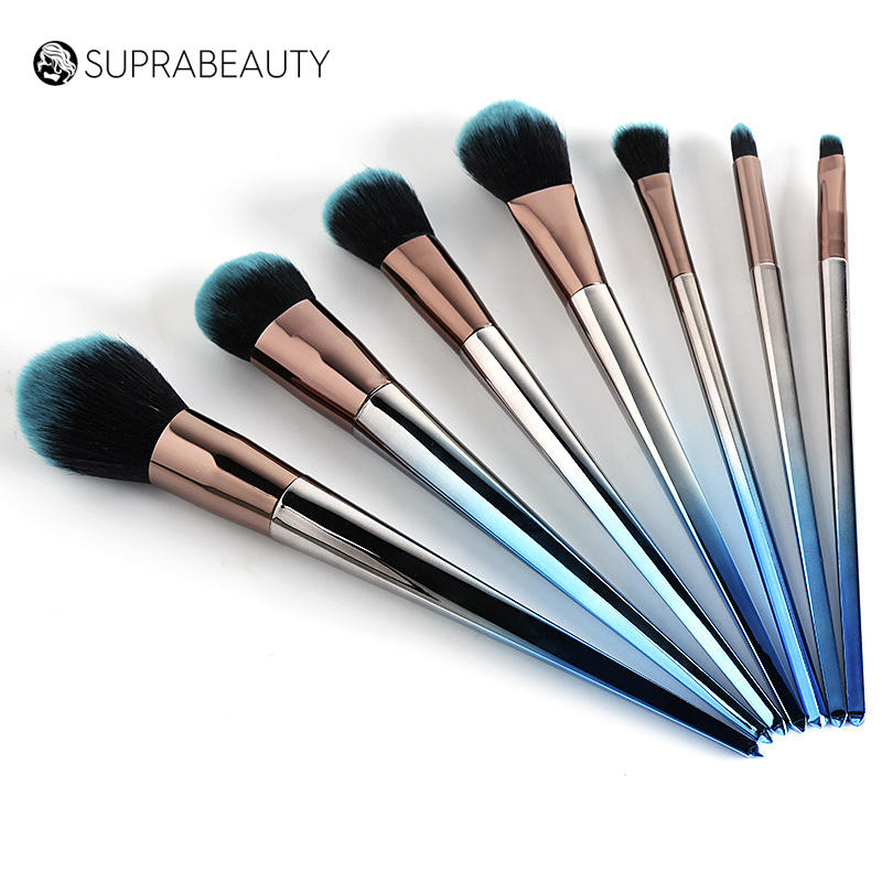 portable aluminum cosmetic brush set 7pcs
