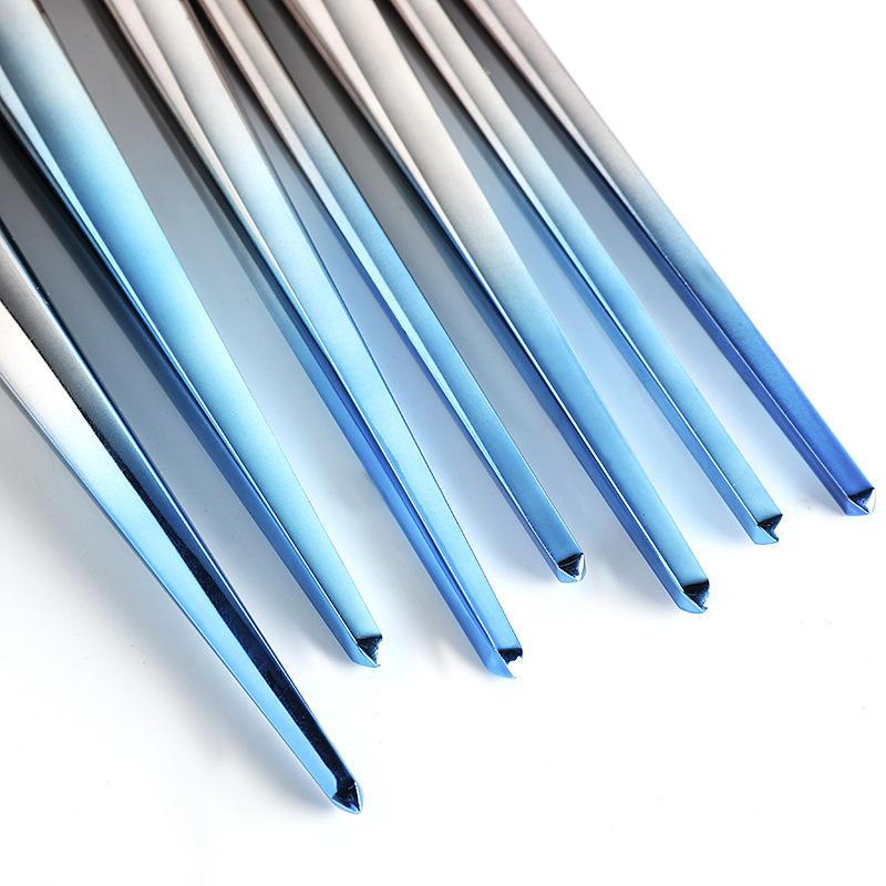 portable aluminum cosmetic brush set 7pcs