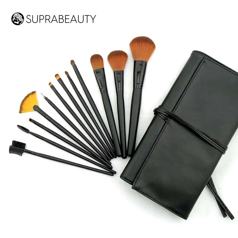 synthetic best rated makeup brush sets with curved synthetic hair