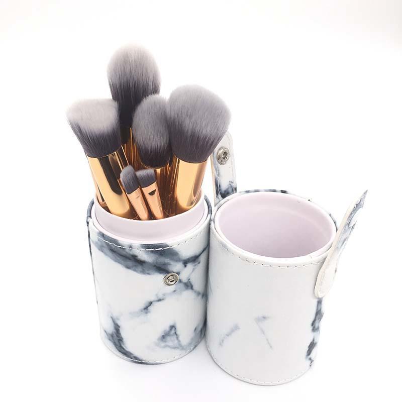 marble makeup brush kit 15pcs