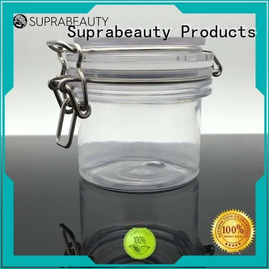 xlj cosmetic jars with lids with silicone ring for cosmetic cream Suprabeauty