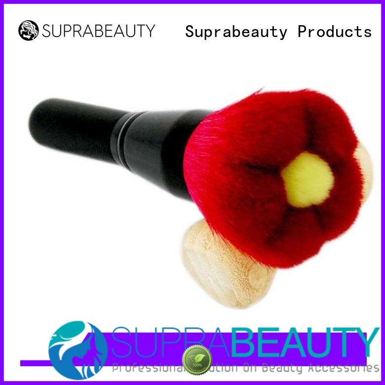Suprabeauty oval base makeup brush with eco friendly painting for loose powder