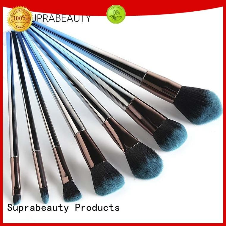 rainbow top makeup brush sets with synthetic bristles for artists