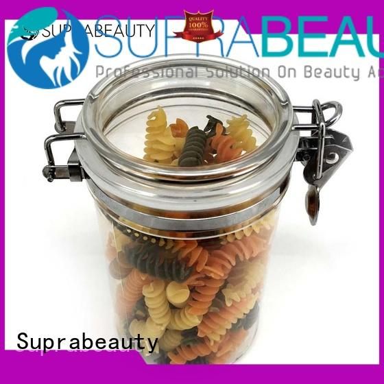Frosted Round Plastic Airtight Jar 250ml