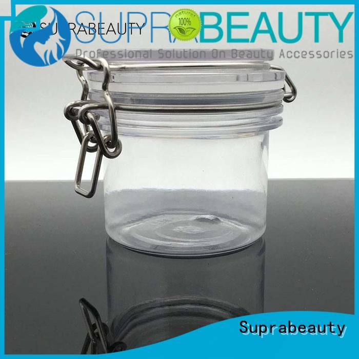 round frosted glass cosmetic bottles with silicone ring for petroleum jelly Suprabeauty