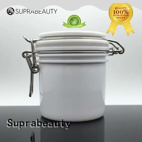Suprabeauty xlj plastic cosmetic containers with stainless steel for bath salt