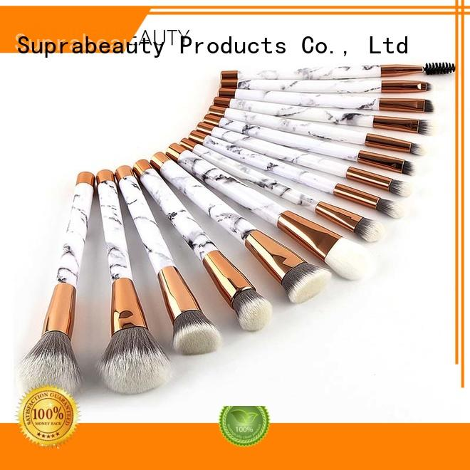 Suprabeauty aluminum best quality makeup brush sets with brush belt for students