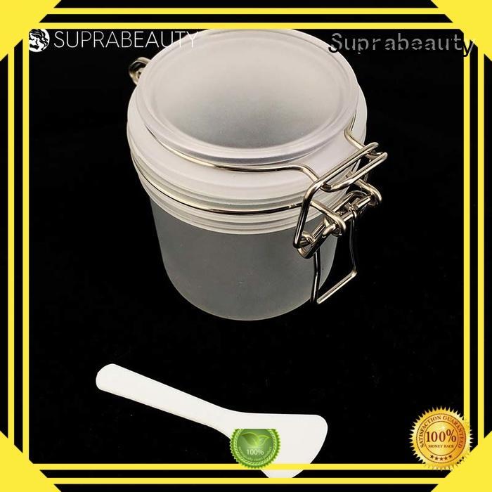 mask bulk glass cosmetic jars with logo printing for bath salt