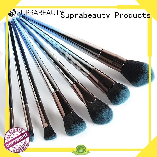 Suprabeauty rainbow best makeup brush set with brush belt