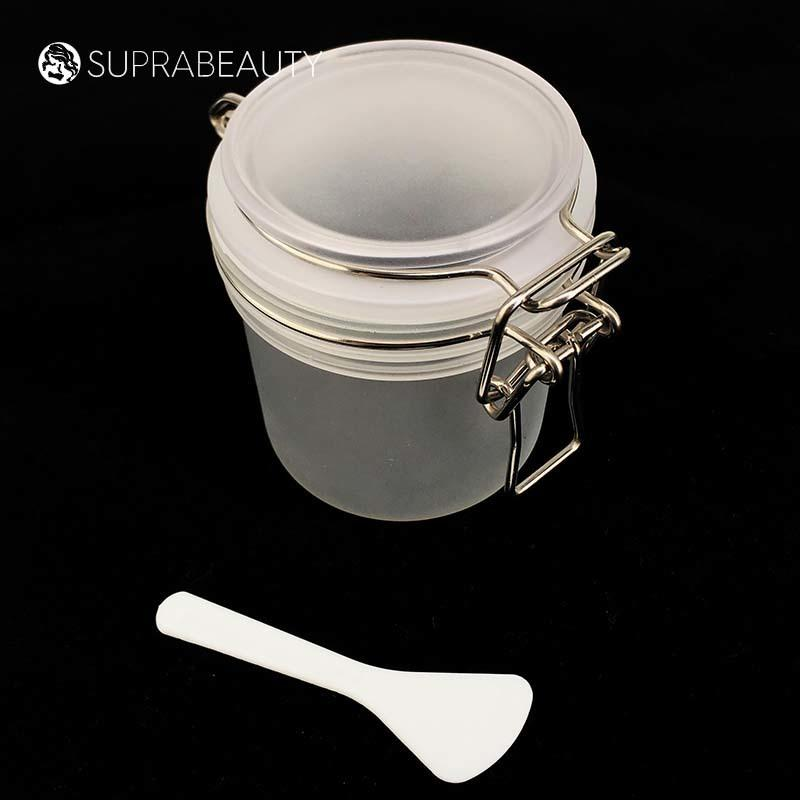 xlj plastic cosmetic containers with logo printing for cosmetic cream Suprabeauty