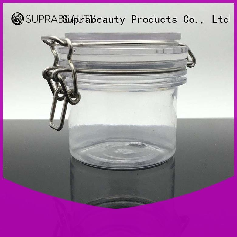 Suprabeauty promotional clear plastic jars with lids wholesale for packaging