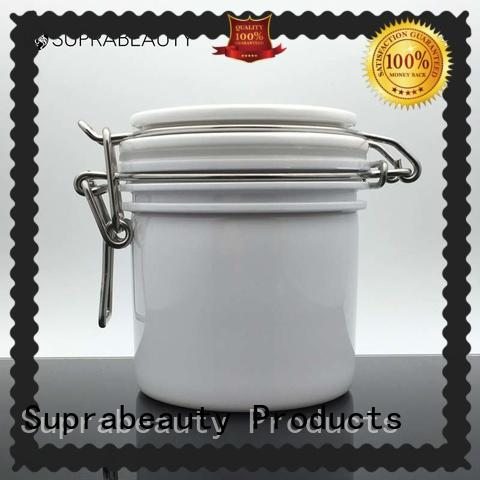 Suprabeauty round empty cosmetic jars with stainless steel for mud mask