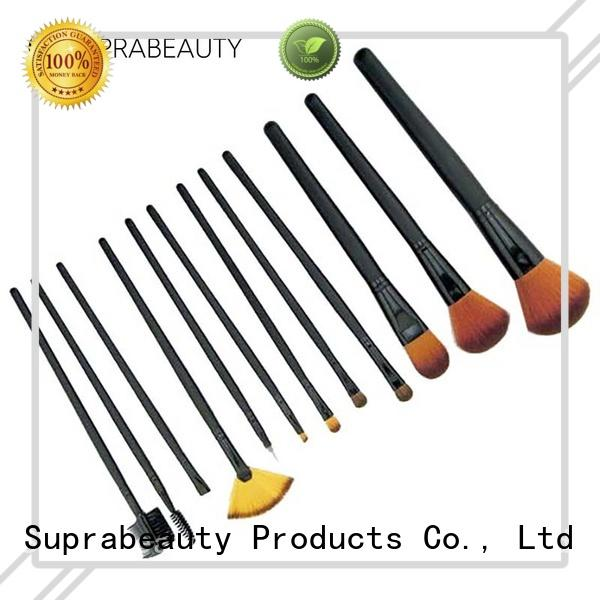 aluminum makeup brush kit online with curved synthetic hair for loose powder