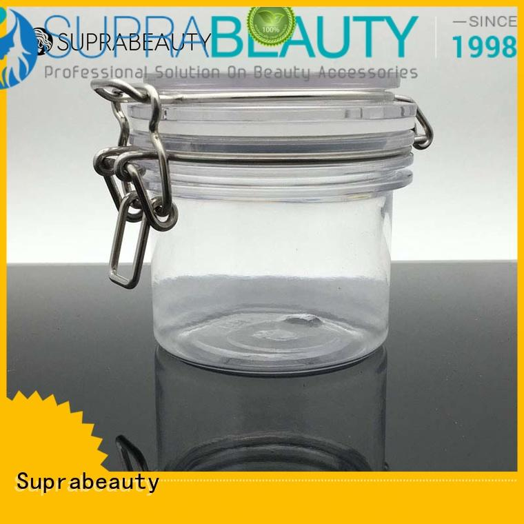 Suprabeauty cosmetic jars with lids with silicone ring for petroleum jelly