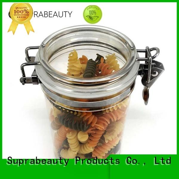 Suprabeauty antioxidative plastic cosmetic containers with stainless steel for mud mask
