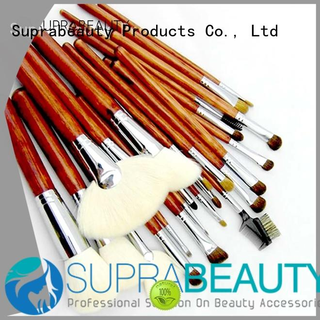 portable beauty brushes set with synthetic bristles for students Suprabeauty