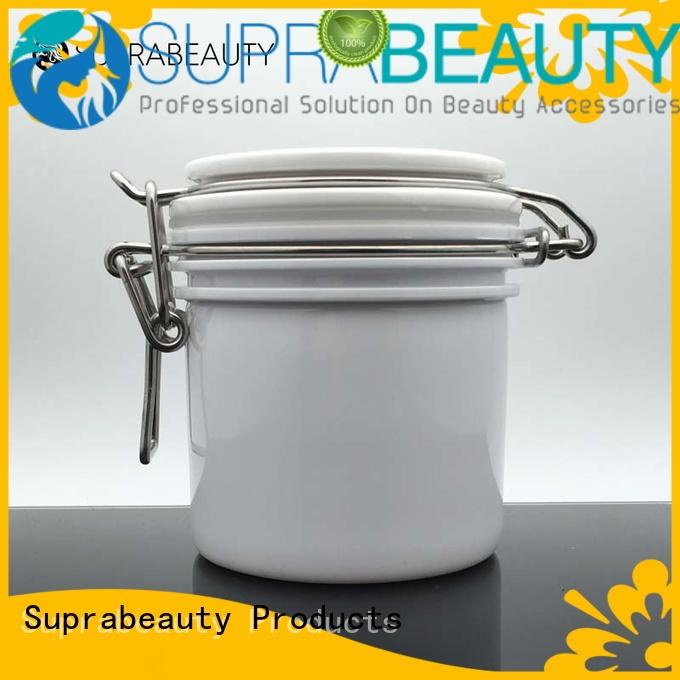Suprabeauty white bulk cosmetic jars superior quality for cosmetic cream
