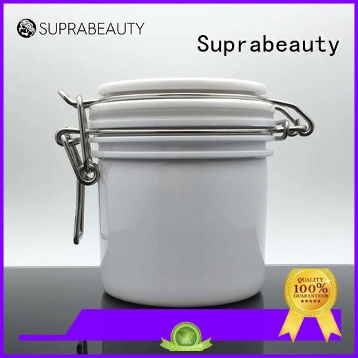 Suprabeauty round cosmetic jars with lids with stainless steel for petroleum jelly
