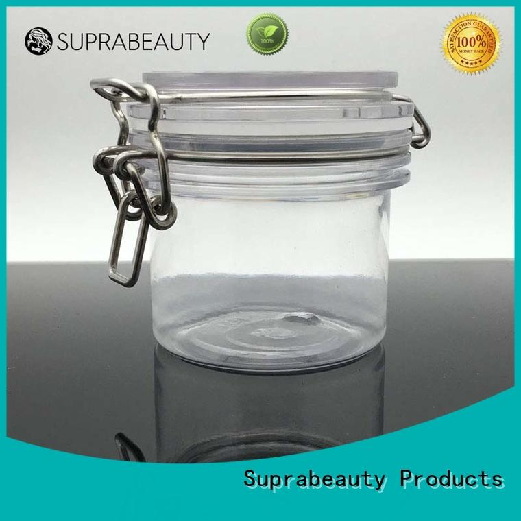 Suprabeauty antioxidative plastic jars with lids with silicone ring for petroleum jelly