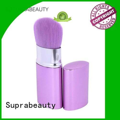 Suprabeauty duo fiber cheap face makeup brushes manufacturer for liquid foundation
