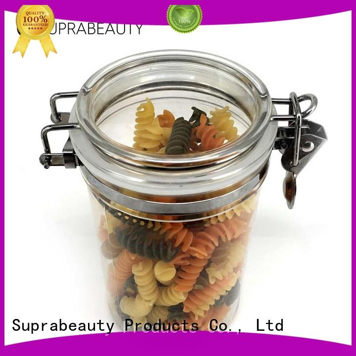 Suprabeauty bulk cosmetic jars with stainless steel for bath salt
