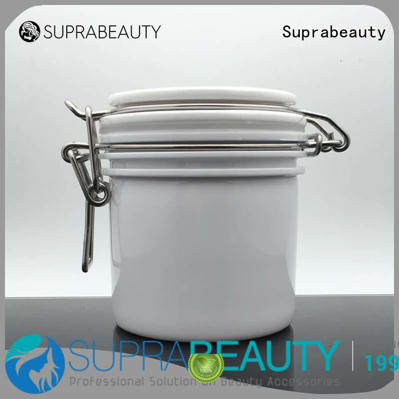 Suprabeauty xlj plastic jars with lids with logo printing for cosmetic cream