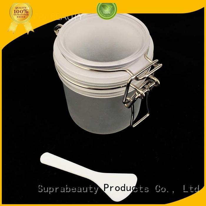 xlj mask cream jar with logo printing for bath salt Suprabeauty