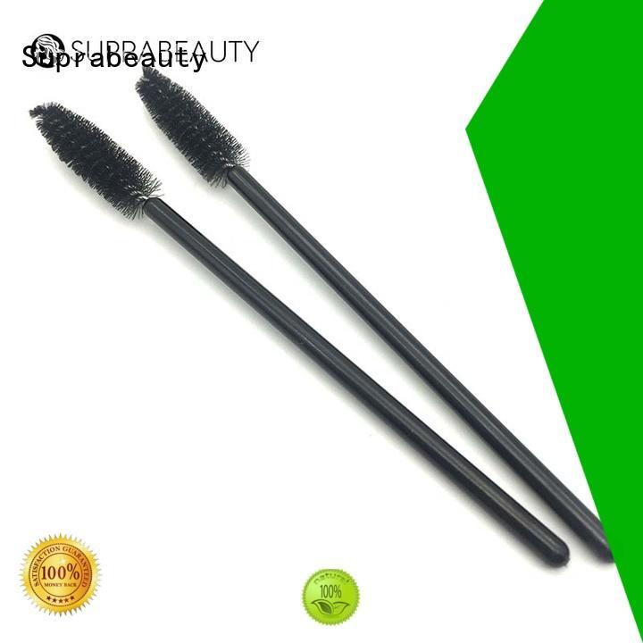 Suprabeauty lip applicator brush with bamboo handle for eyeshadow powder