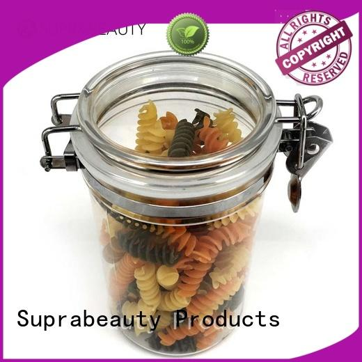 Suprabeauty plastic cosmetic jars with silicone ring for petroleum jelly