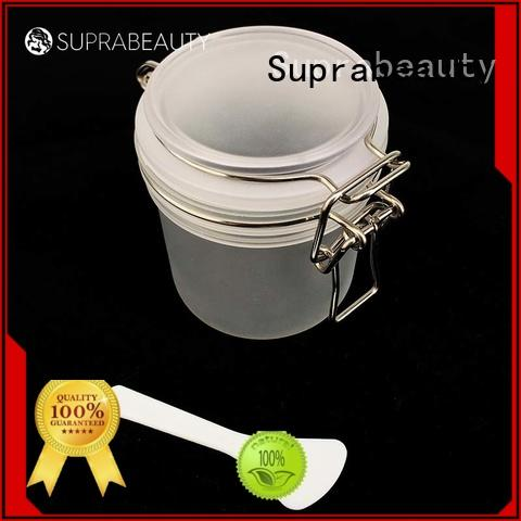 frosted plastic cosmetic jars with lids with logo printing for petroleum jelly