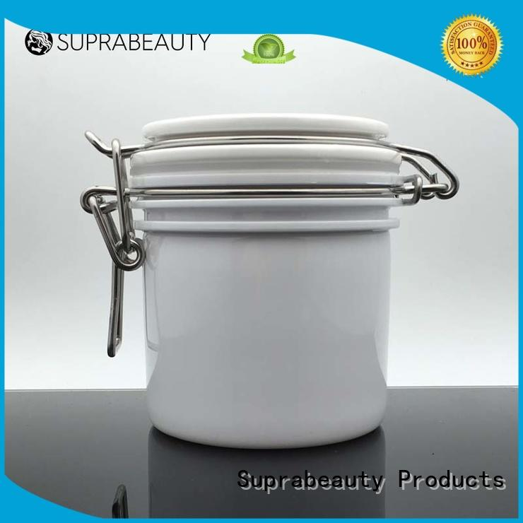 xlj clear cosmetic jars with silicone ring for petroleum jelly Suprabeauty