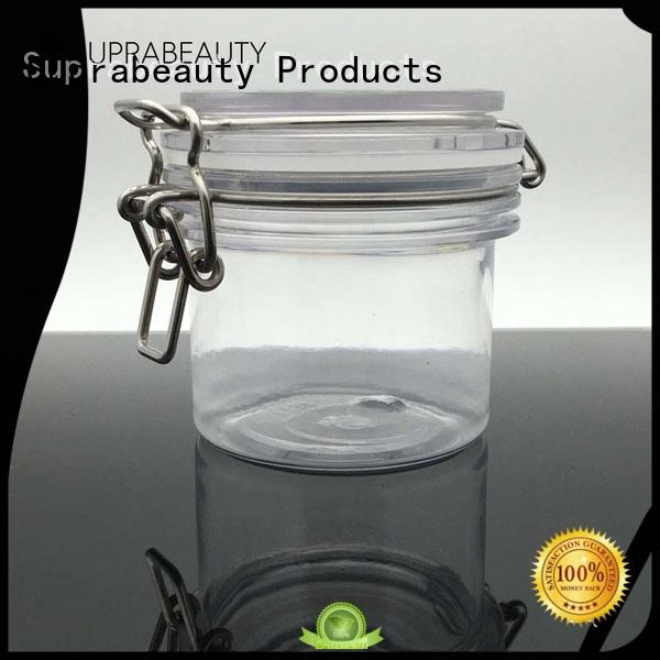 Suprabeauty xlj empty cosmetic jars with logo printing for bath salt
