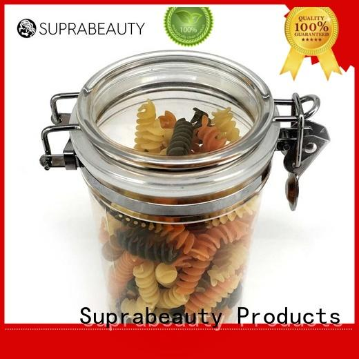 xlj frosted glass cosmetic bottles with stainless steel for bath salt Suprabeauty