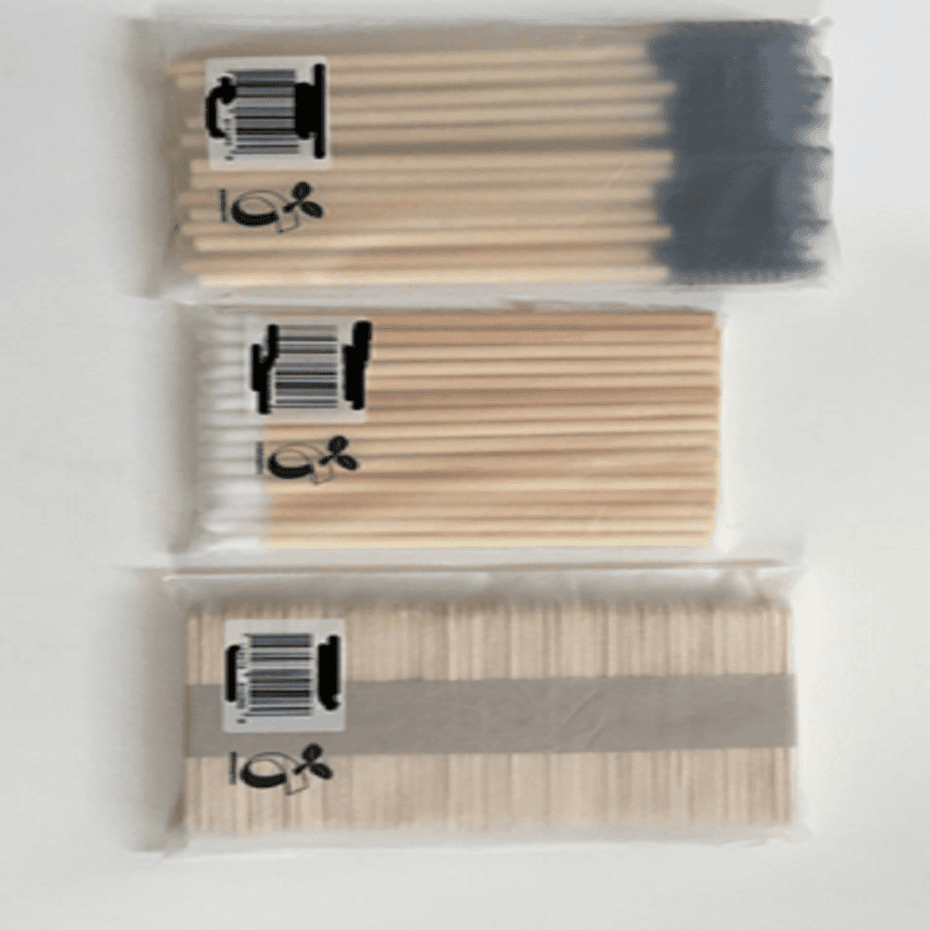 Using BIO-degradable packaging on eco-friendly makeup applicator products