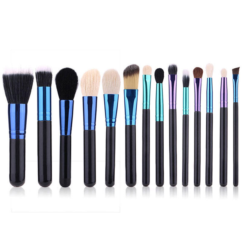Goat hair makeup brush kit Suprabeauty 14pcs makeup brush kit SP0022