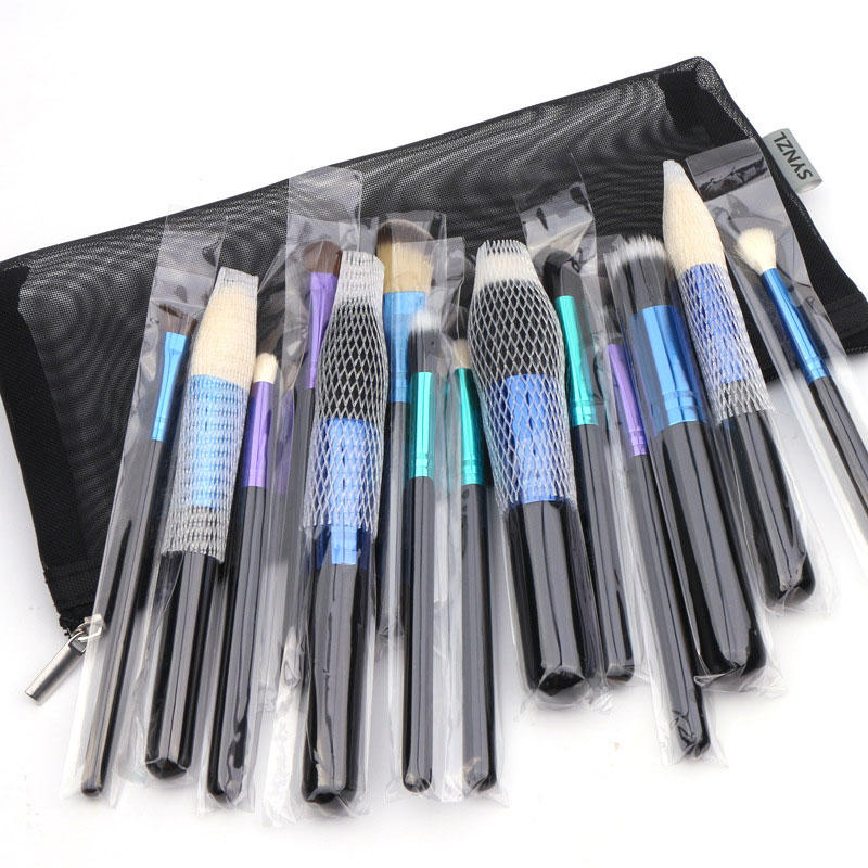 Suprabeauty marble makeup brush kit online with synthetic bristles
