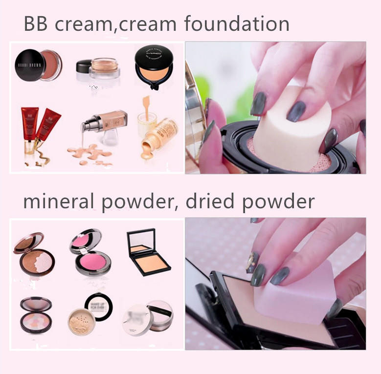 pink new makeup sponge wedge for mineral powder Suprabeauty