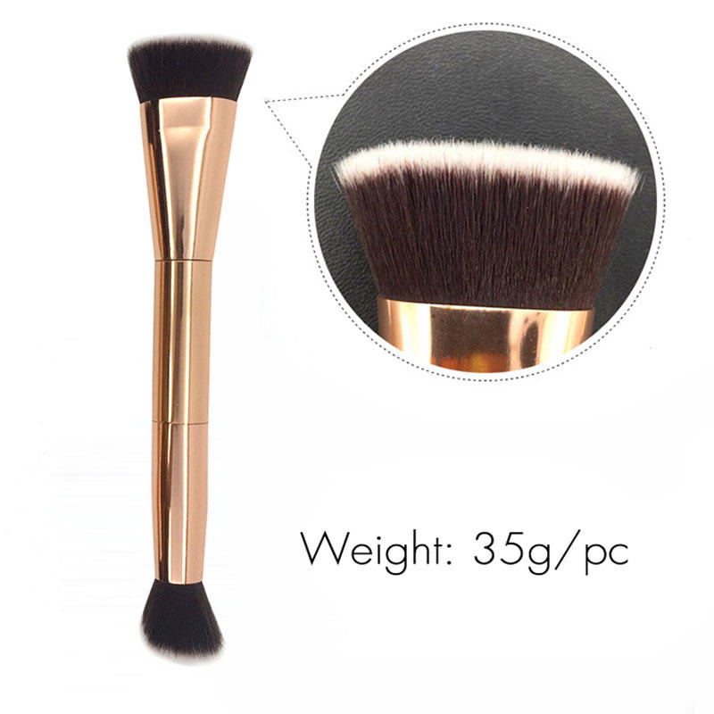 Synthetic hair makeup bronzing brush