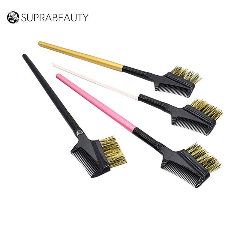 Badger bristle makeup eyebrow brush