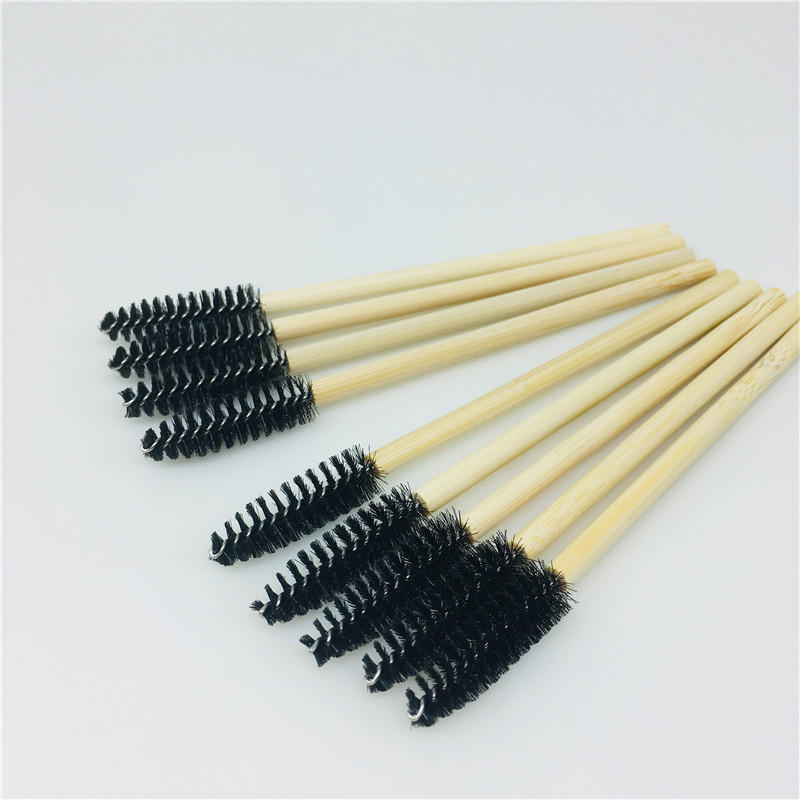 Bamboo makeup brush eco-friendly makeup applicator mascara brush