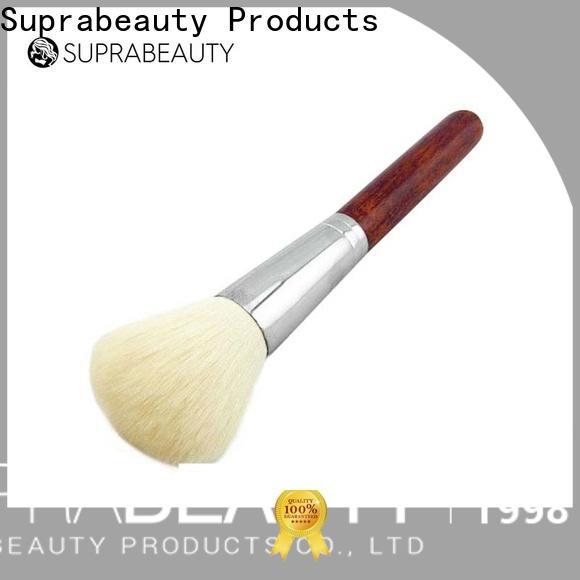 custom cream makeup brush company bulk production