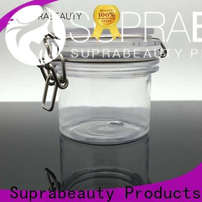 Suprabeauty clear plastic jars with lids with good price for package