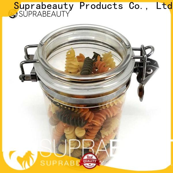Suprabeauty plastic airtight jars best supplier for promotion
