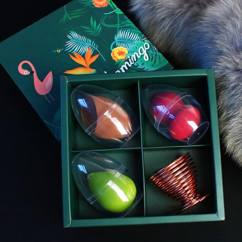 Gift box packaging makeup sponge set