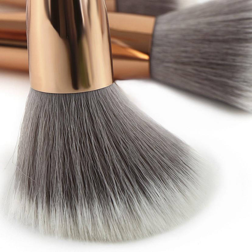 Luxury vegan synthetic hair face marble makeup brush set